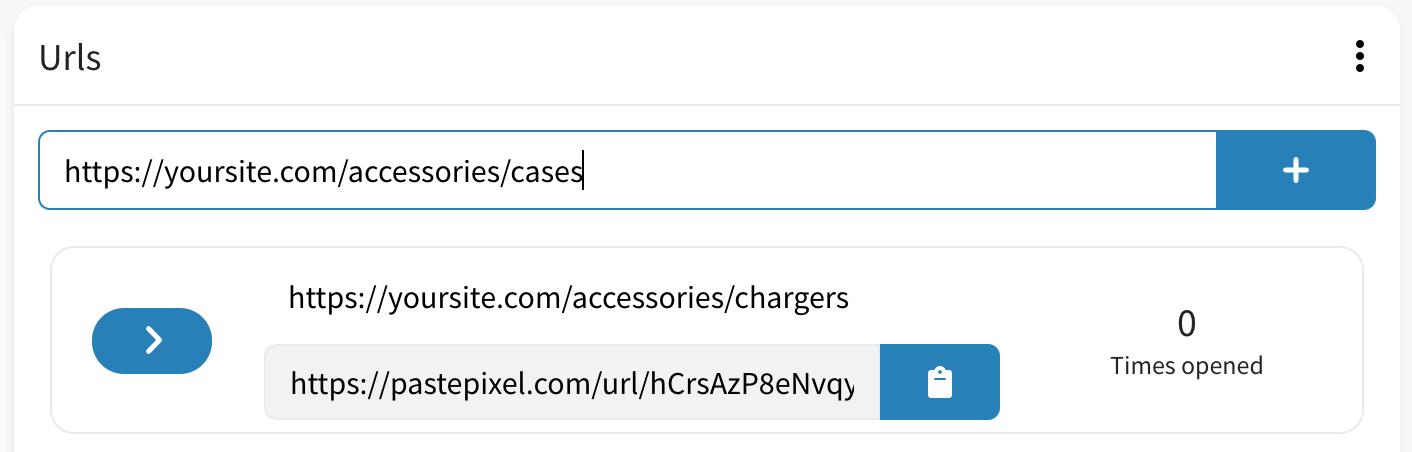 Generate tracking URLs