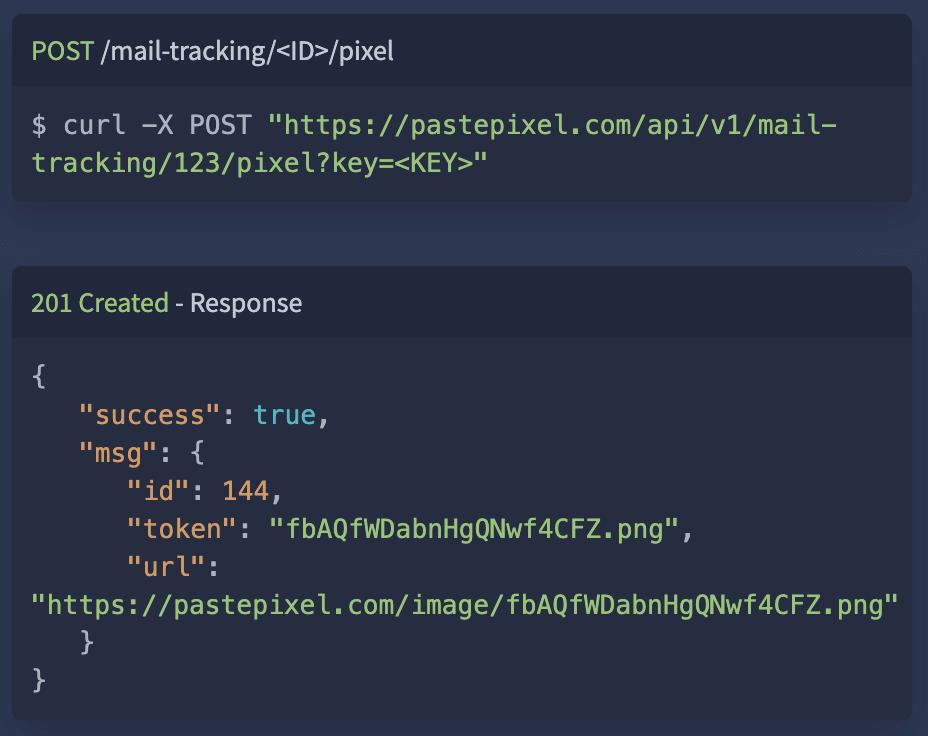 API-documentation code sample