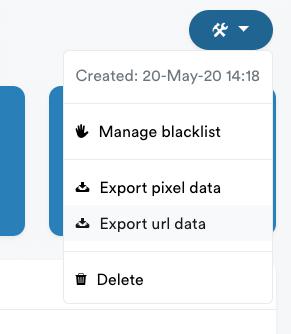 Exporteer getraceerde data